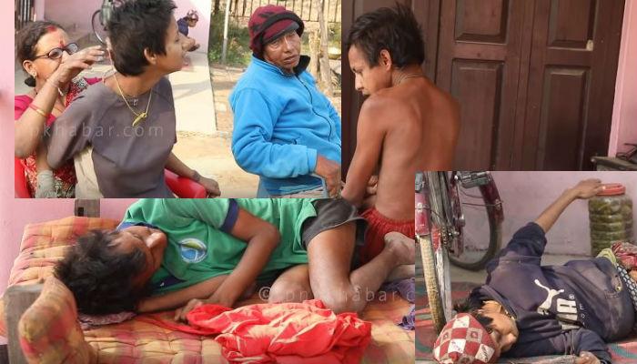 पाँचै सन्तान जन्मजातै अपाङ्ग,  कुन जुनीमा पाप गरेछु भन्दै धरधरी रोए ७२ वर्षीय बाबु