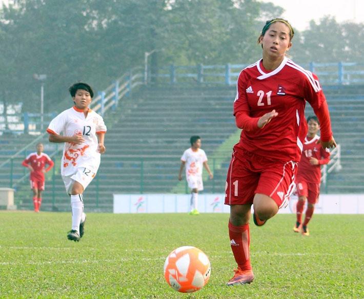 पाँचौँ महिला साफ फुटबल मङ्गलबारदेखि
