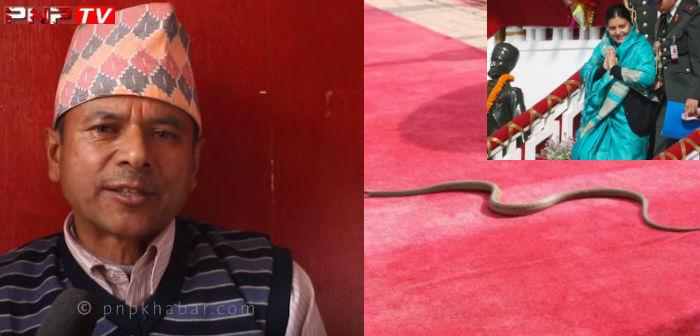 राष्ट्रपतिलाई सर्पले बाटो काट्नु देशमा खतराको संकेत : ज्योतिष सोम प्रसाद नेपाल (भिडियो)