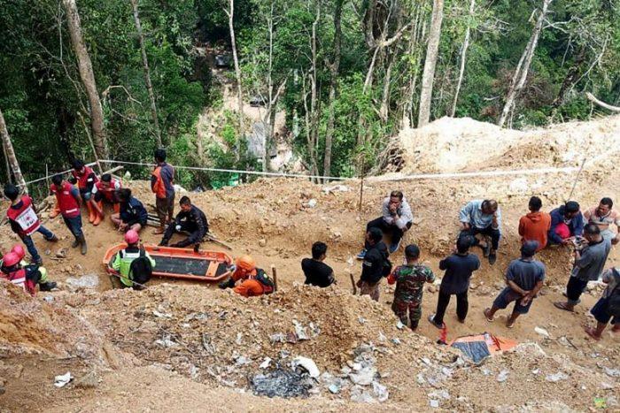 इन्डोनेसियाको सुनखानी दुर्घटना हुँदा पाँच जनाको मृत्यु